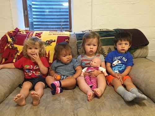 Henry's Pals at Betty's: Brady, Olivia, Vivianne, Henry